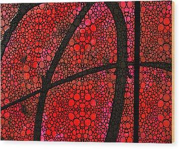 Ah - Red Stone Rock'd Art By Sharon Cummings Wood Print by Sharon Cummings