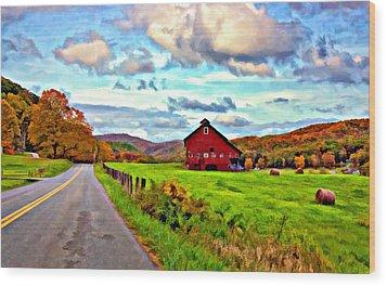 Ah...west Virginia Oil Wood Print by Steve Harrington