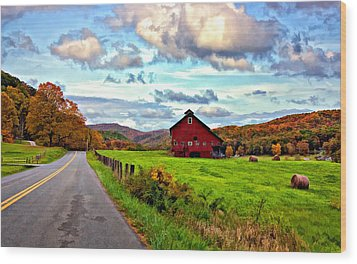 Ah...west Virginia Painted Wood Print