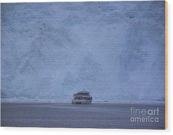Aialik Glacier Wood Print