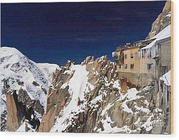 Wood Print featuring the photograph Aiguille Du Midi -  Mont Blanc Massif by Antonio Scarpi
