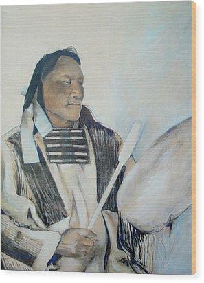 Ainihkiwa Wood Print by Terri Ana Stokes