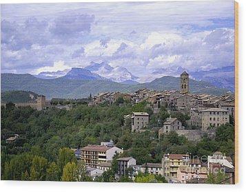 Ainsa Landscape Wood Print