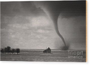 Ain't It Grand The Winds Stop Blowing Wood Print by Gregory Dyer