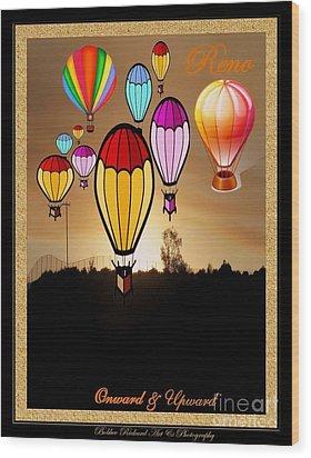 Air Balloons Reno Wood Print by Bobbee Rickard