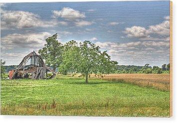 Air Conditioned Barn Wood Print by Douglas Barnett