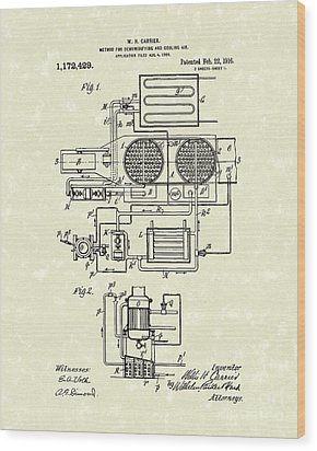 Air Conditioner 1916 Patent Art Wood Print