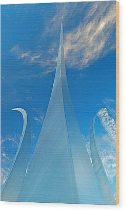 Wood Print featuring the photograph Air Force Memorial by Michael Donahue