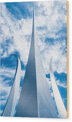 Air Force Monument Wood Print
