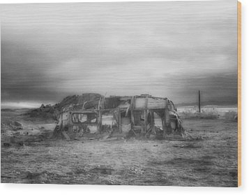 Air Stream Cannibalized Wood Print by Hugh Smith
