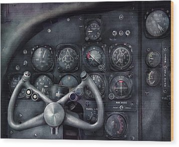 Air - The Cockpit Wood Print by Mike Savad
