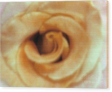 Airbrush Rose Wood Print