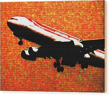 Airbus 340 Wood Print by Marcello Cicchini