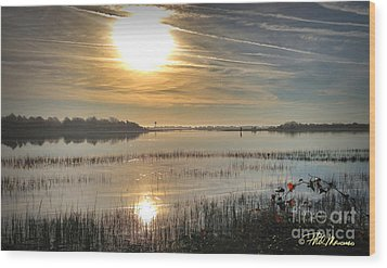 Wood Print featuring the photograph Airlie Road Morning by Phil Mancuso
