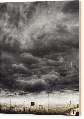 Wood Print featuring the photograph Airplane by Bob Orsillo