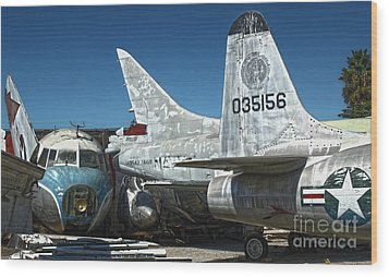 Airplane Graveyard - 19 Wood Print by Gregory Dyer