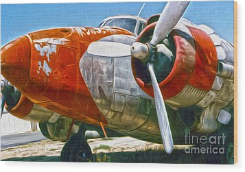 Airplane Graveyard - 21 Wood Print by Gregory Dyer