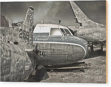 Airplane Graveyard - 02 Wood Print by Gregory Dyer