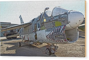 Airplane Graveyard - 05 Wood Print by Gregory Dyer