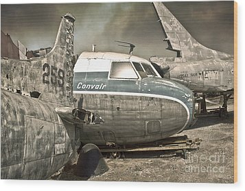 Airplane Graveyard Wood Print by Gregory Dyer