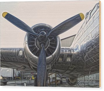 Airplane Propeller - 01 Wood Print by Gregory Dyer
