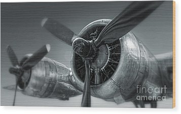 Airplane Propeller - 02 Wood Print by Gregory Dyer