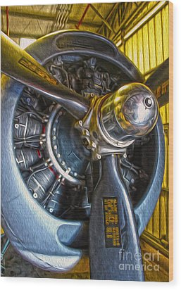 Airplane Propeller - 06 Wood Print by Gregory Dyer