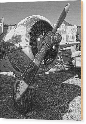 Airplane Propeller - 07 Wood Print by Gregory Dyer
