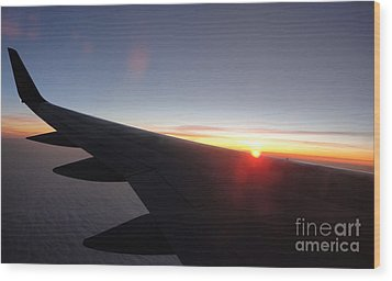 Airplane Wing - 01 Wood Print by Gregory Dyer