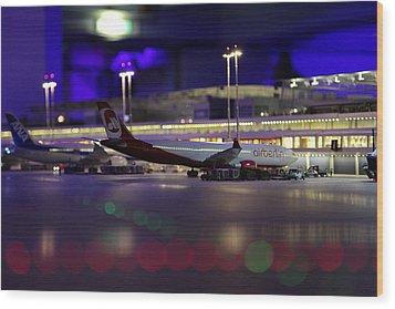Airport Wood Print
