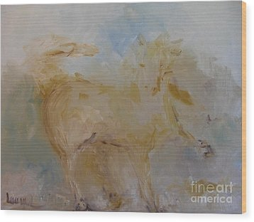 Wood Print featuring the painting Airwalking by Laurie L