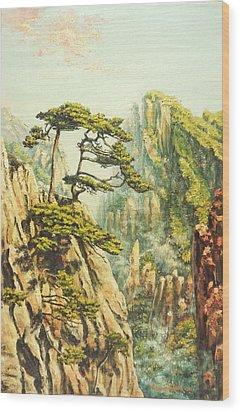 Airy Mountains Of China Wood Print by Irina Sumanenkova