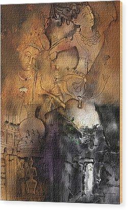 Ajantha Wood Print by Nm