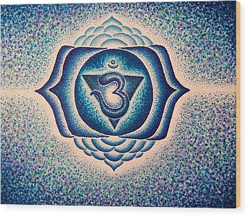 Ajna Third Eye Chakra  Wood Print by Andrew Zeutzius