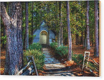 Ajsp Chapel Wood Print by Andy Lawless