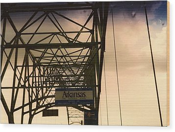 Wood Print featuring the photograph Akansas Here We Come by Amazing Photographs AKA Christian Wilson