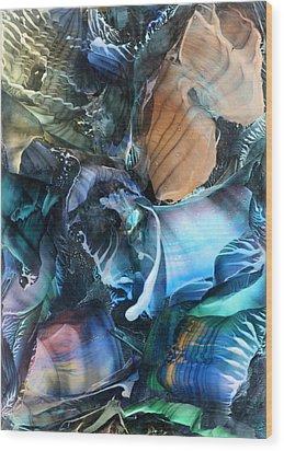 Akashic Memories From Subsurface Wood Print by Cristina Handrabur