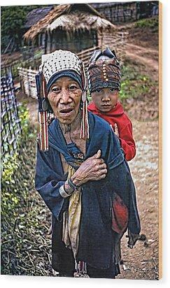 Akha Tribe II Wood Print by Steve Harrington