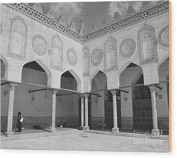 Al Azhar Mosque Cairo Wood Print by Nigel Fletcher-Jones