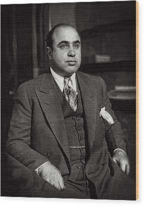 Al Capone - Scarface Wood Print by Doc Braham