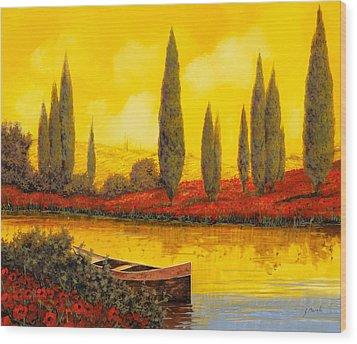 Al Tramonto Wood Print by Guido Borelli