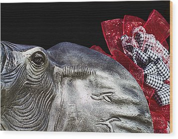 Alabama Football Mascot Wood Print by Kathy Clark