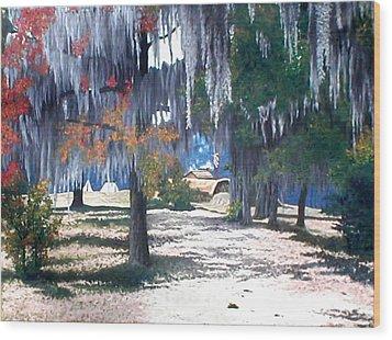 Alabama Fort Jackson Wood Print by Beth Parrish
