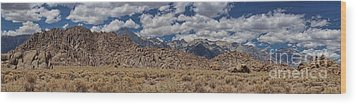 Wood Print featuring the photograph Alabama Hills And Eastern Sierra Nevada Mountains by Peggy Hughes