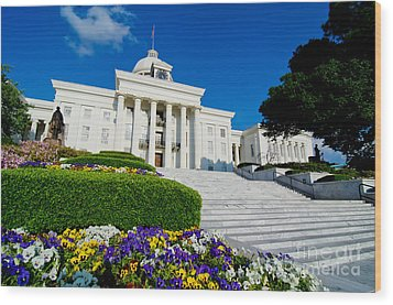 Alabama State Capitol Building Wood Print