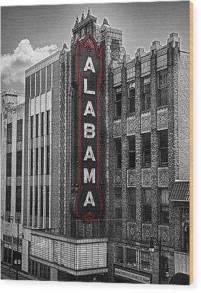 Alabama Theater Wood Print by Fred Baird