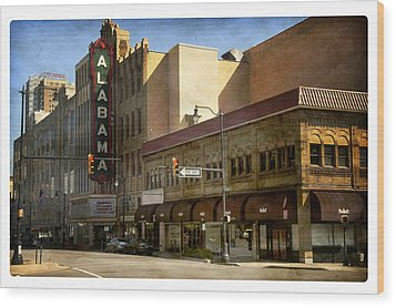 Wood Print featuring the photograph Alabama Theatre by Davina Washington