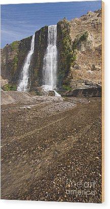 Alamere Falls On Crisp Day Wood Print by Matt Tilghman