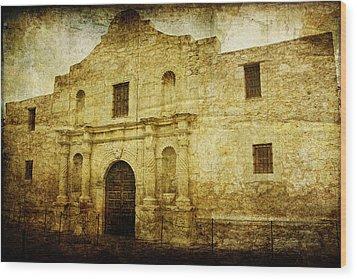 Alamo Remembered Wood Print