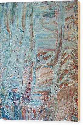 Alaska Wood Print by Artist Ai